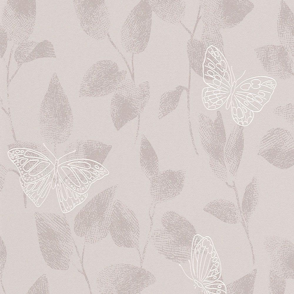 Ebay - Papel pintado blanco y plata ...