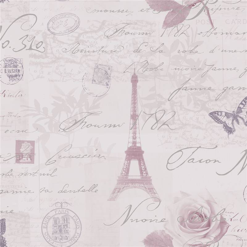 Heather - Lilac / Silver - 97751 Calligraphy French Paris Holden Decor ...