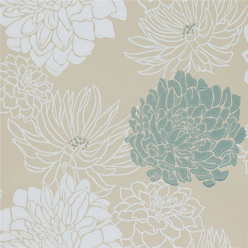 Cream teal silver gold 30483 divine for Wallpaper designs for walls