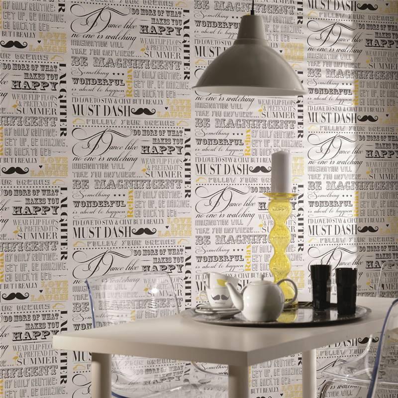 tapete safran schiefer be magnificent schrift worte text. Black Bedroom Furniture Sets. Home Design Ideas