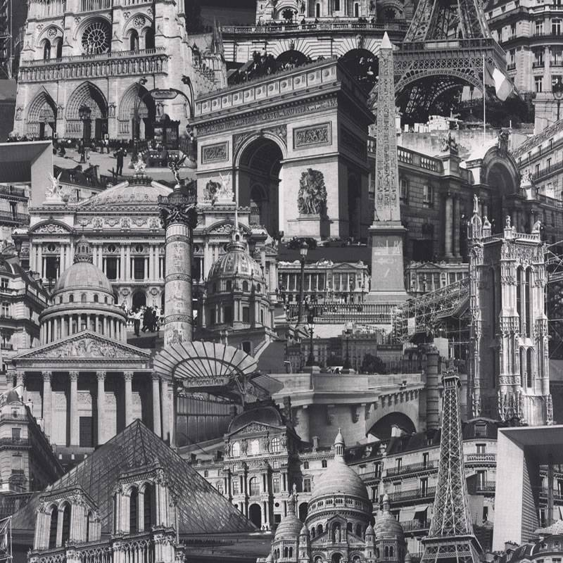 Schwarz Wei? Stadt Tapete : Black and White Paris Wallpaper