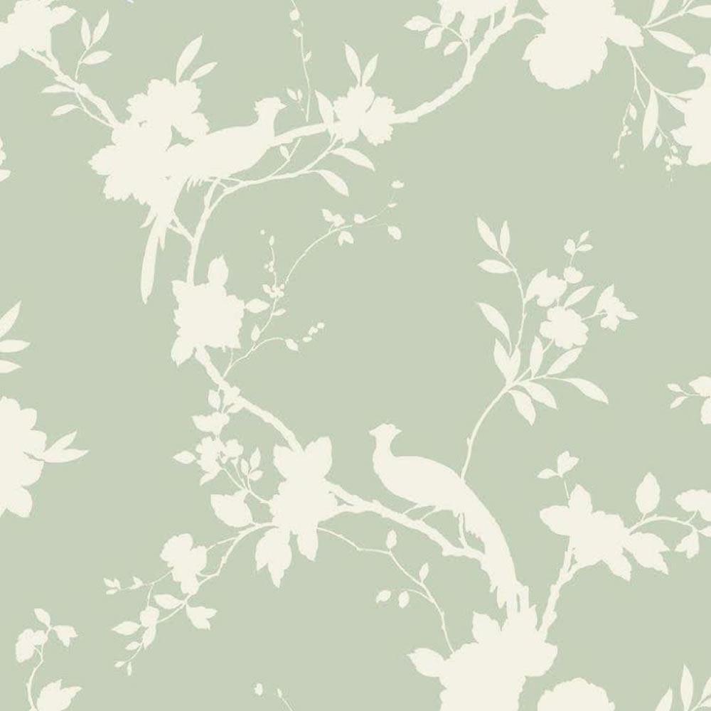 Carta Da Parati Verde Salvia Fantasia Floreale 422808