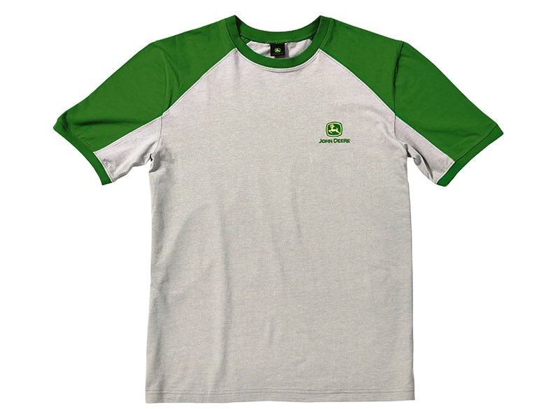 John Deere Bicolour T Shirt Grey Ebay
