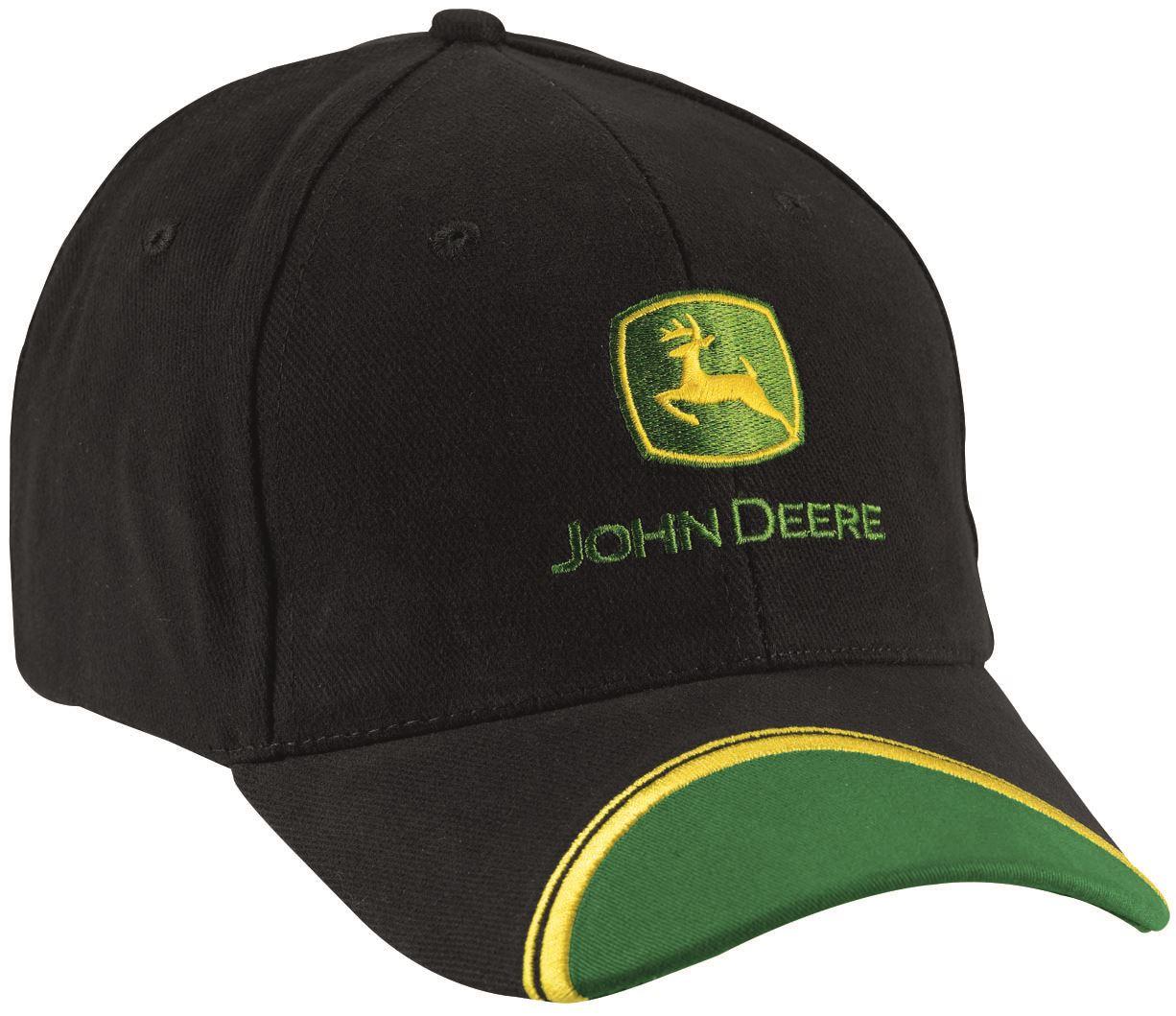 John Deere Black Cap : John deere wave cotton baseball cap hat green black ebay