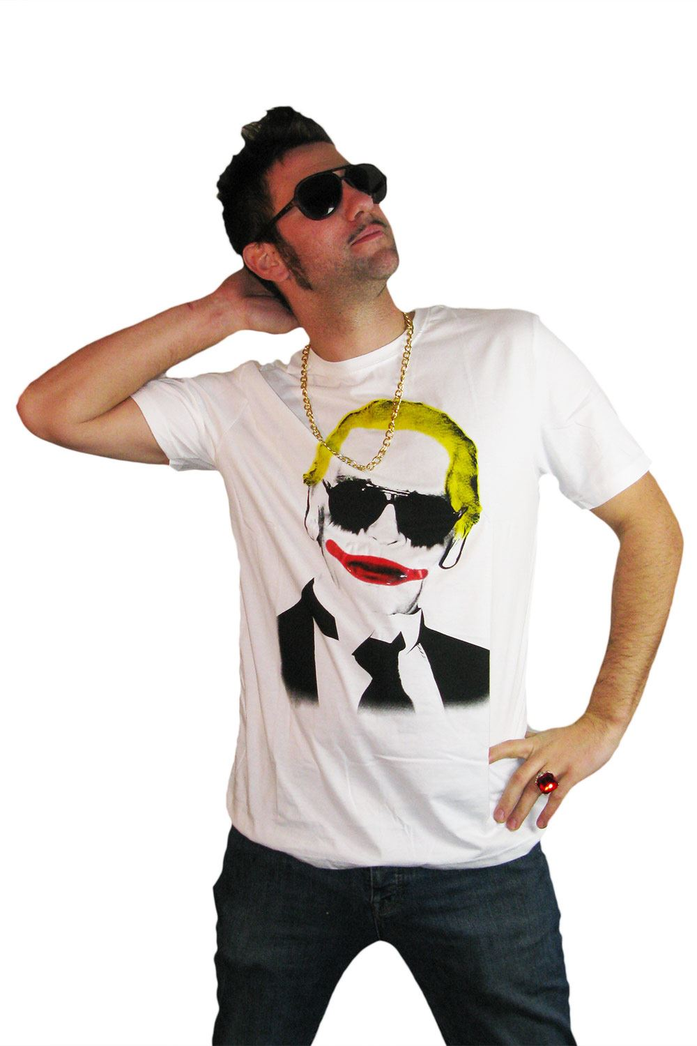 t shirt karl lagerfeld joker batman ebay. Black Bedroom Furniture Sets. Home Design Ideas