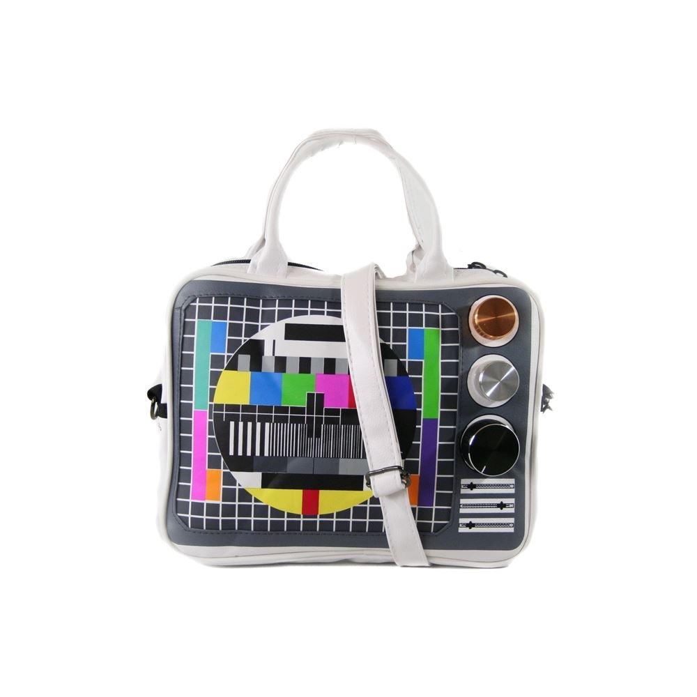 sacoche sac ordinateur pc portable 14 pouces t l tv t l vision vintage geek. Black Bedroom Furniture Sets. Home Design Ideas