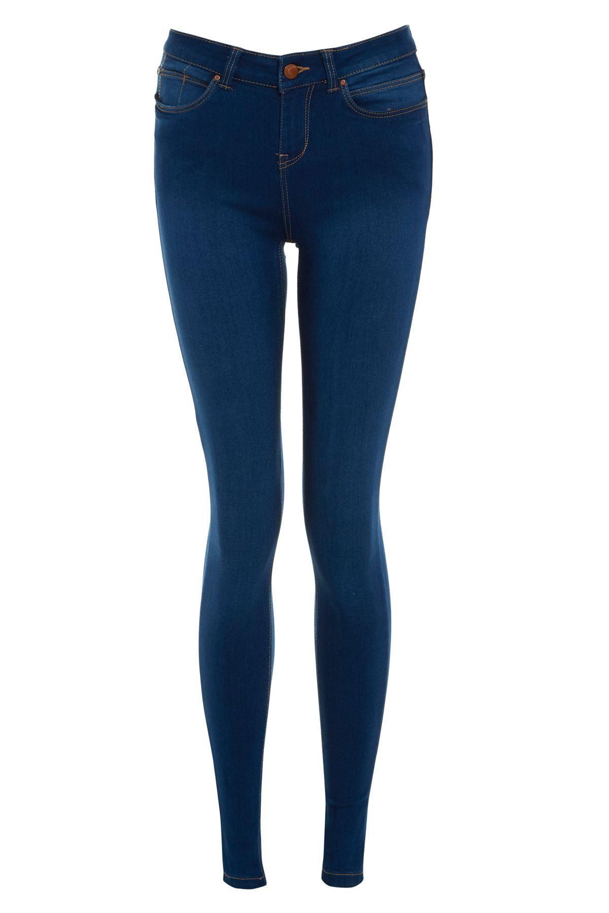 new look women 39 s navy blue casual super skinny jeans ebay. Black Bedroom Furniture Sets. Home Design Ideas