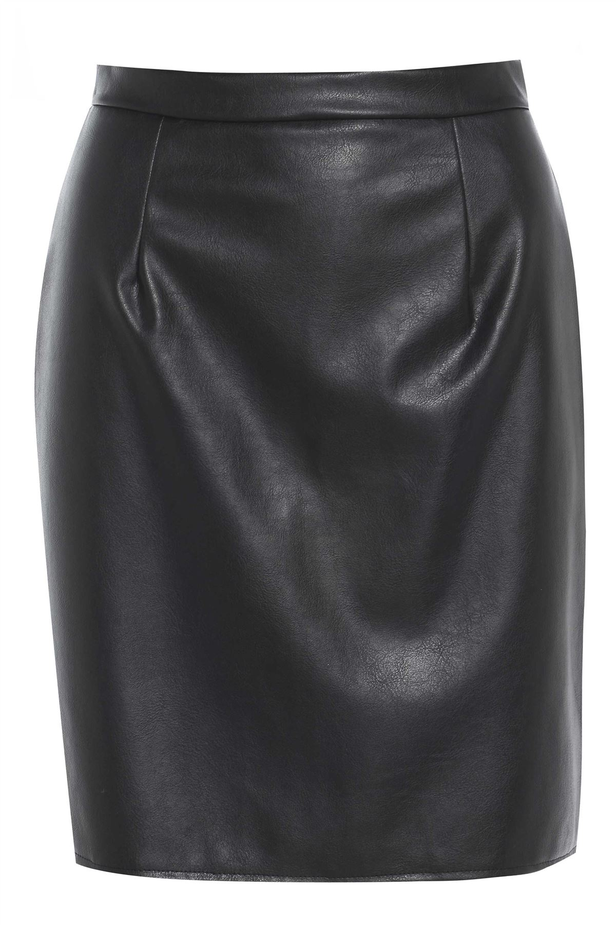 Leather Look A-Line Skirt | eBay