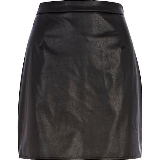 river island leather look a line skirt ebay