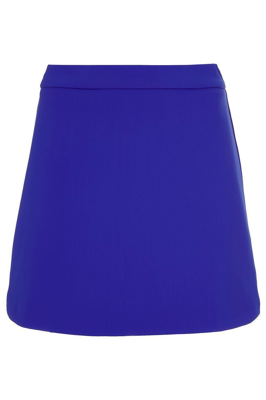 Topshop-Bright-Blue-A-Line-Short-Skirt
