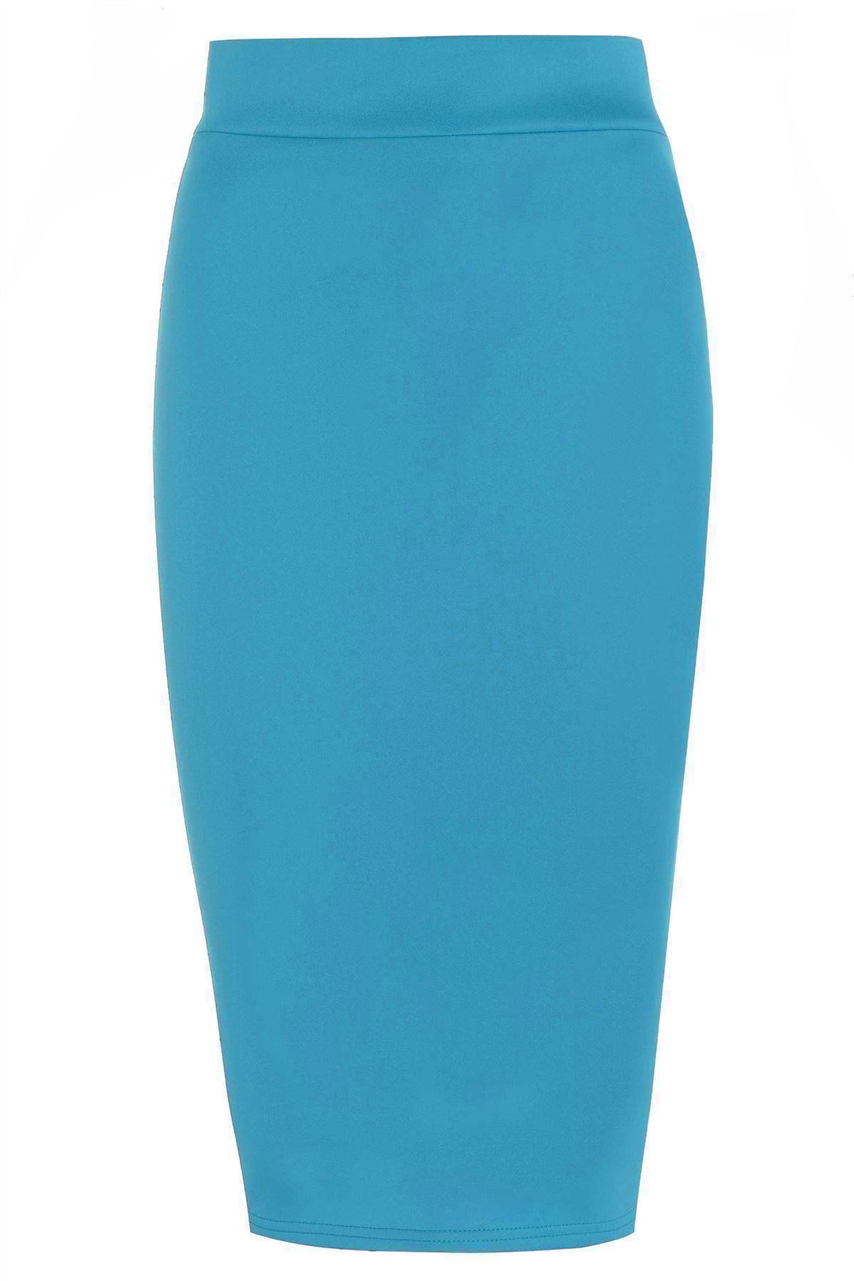 turquoise pencil skirt ebay