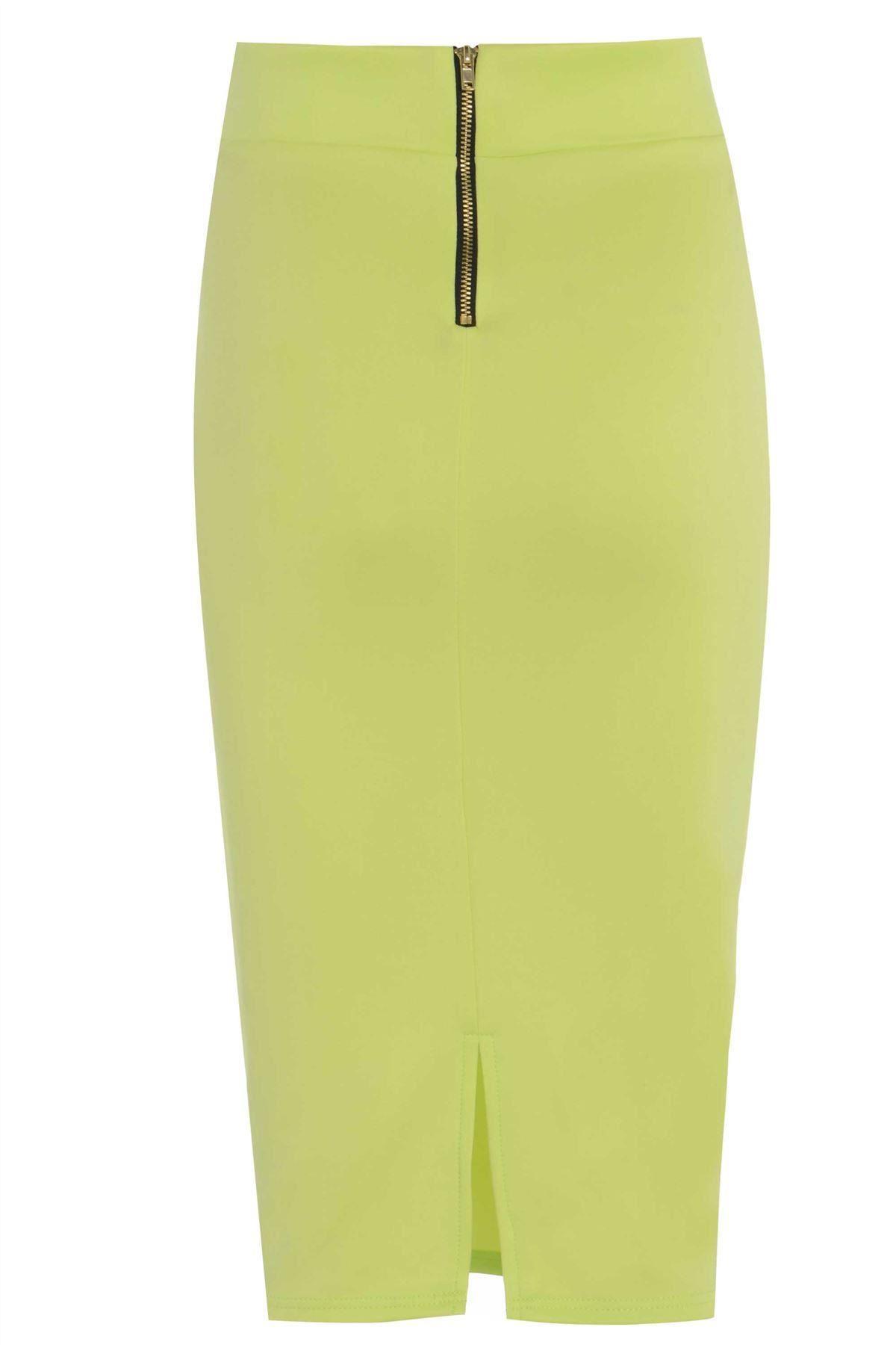 love2dress s casual lime pencil skirt ebay