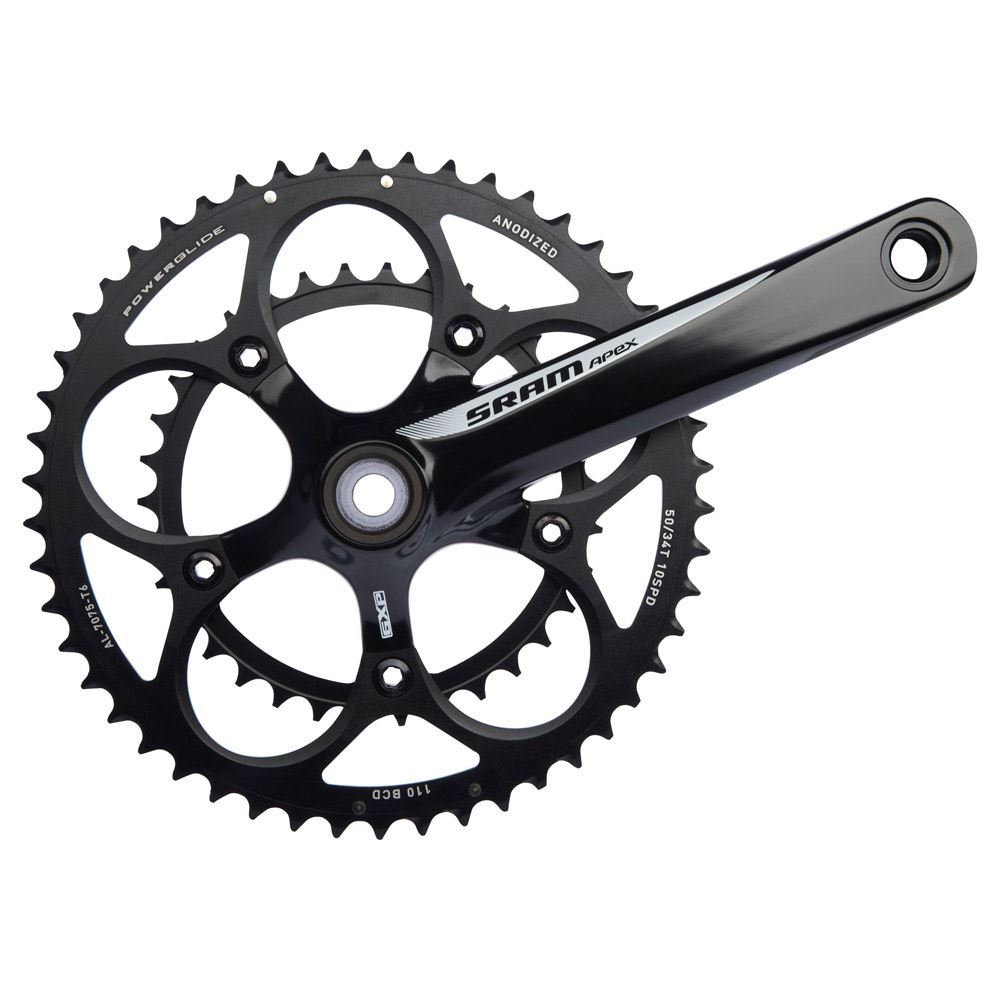 SRAM  SRAM Apex Black/White Chainset Inc GXP BB
