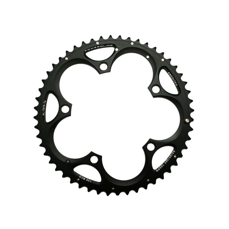 SRAM Chainring Road 52t 5 Bolt 130mm BCD Triple Alum (52-39-30) 4mm Black