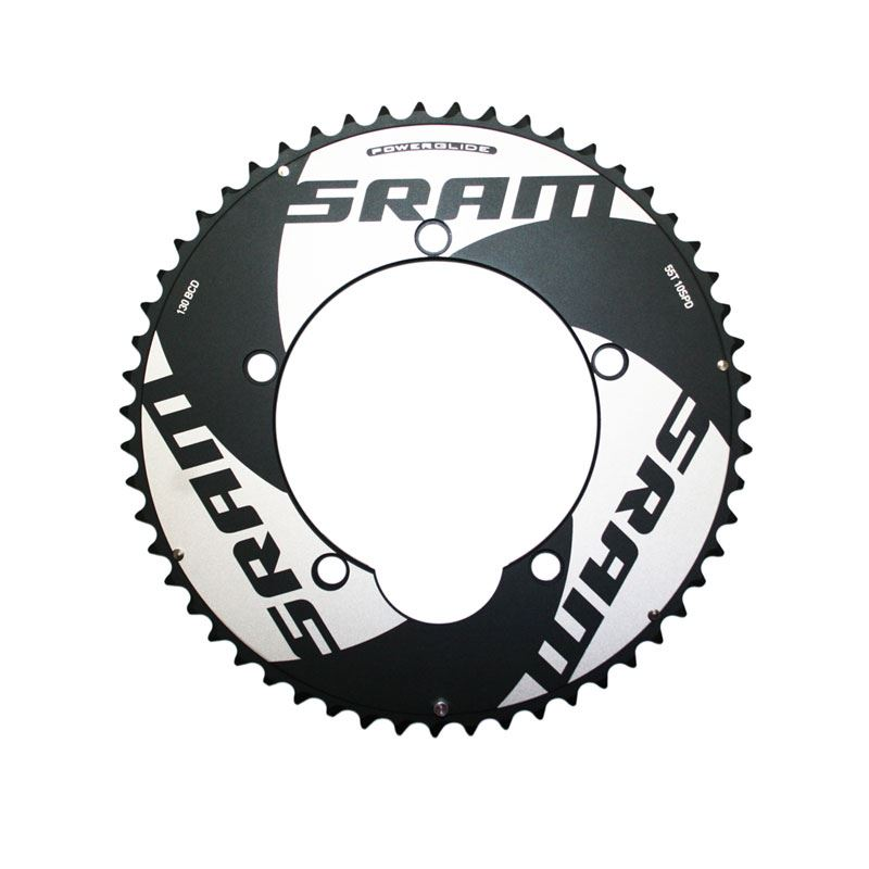 SRAM Chainring TT 54t 5 Bolt 130mm BCD Alum (Non-Hidden Bolt) (54-42) 4mm Black