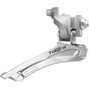 Shimano Tiagra FD-4600 Tiagra 10-speed front derailleur, double braze-on silver