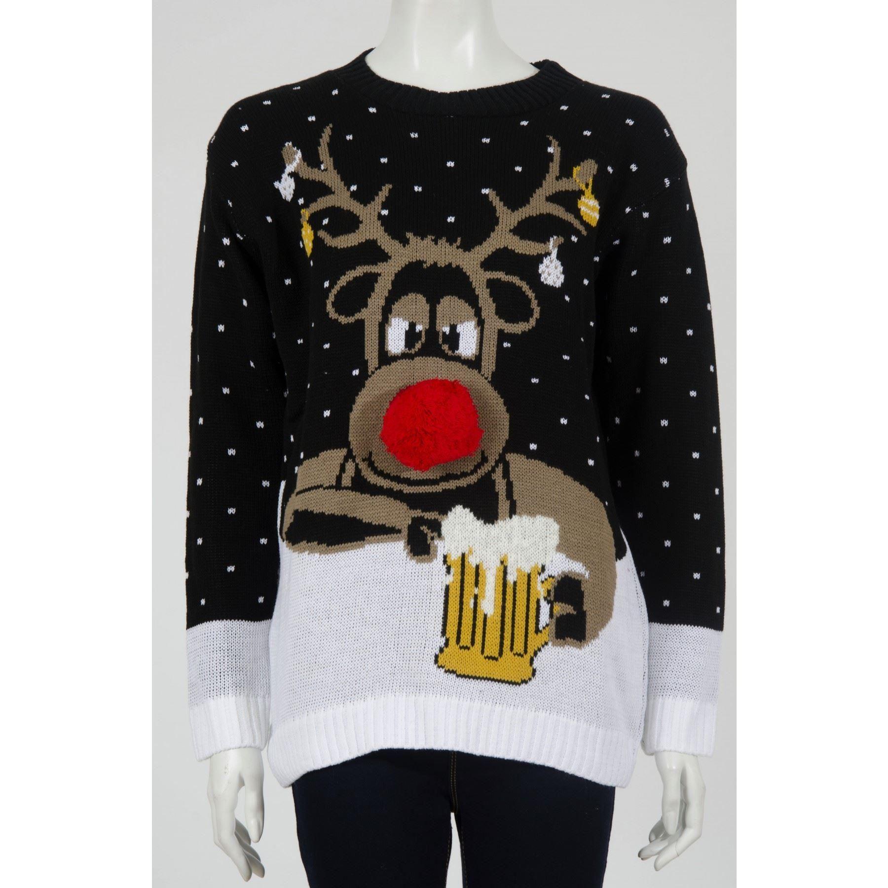 Unisex Christmas Jumpers Olaf Minion Reindeer X-mas ...