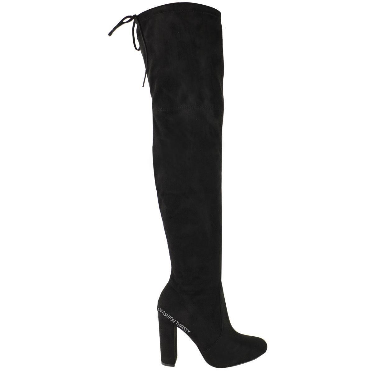 womens stretch the knee boots shoes