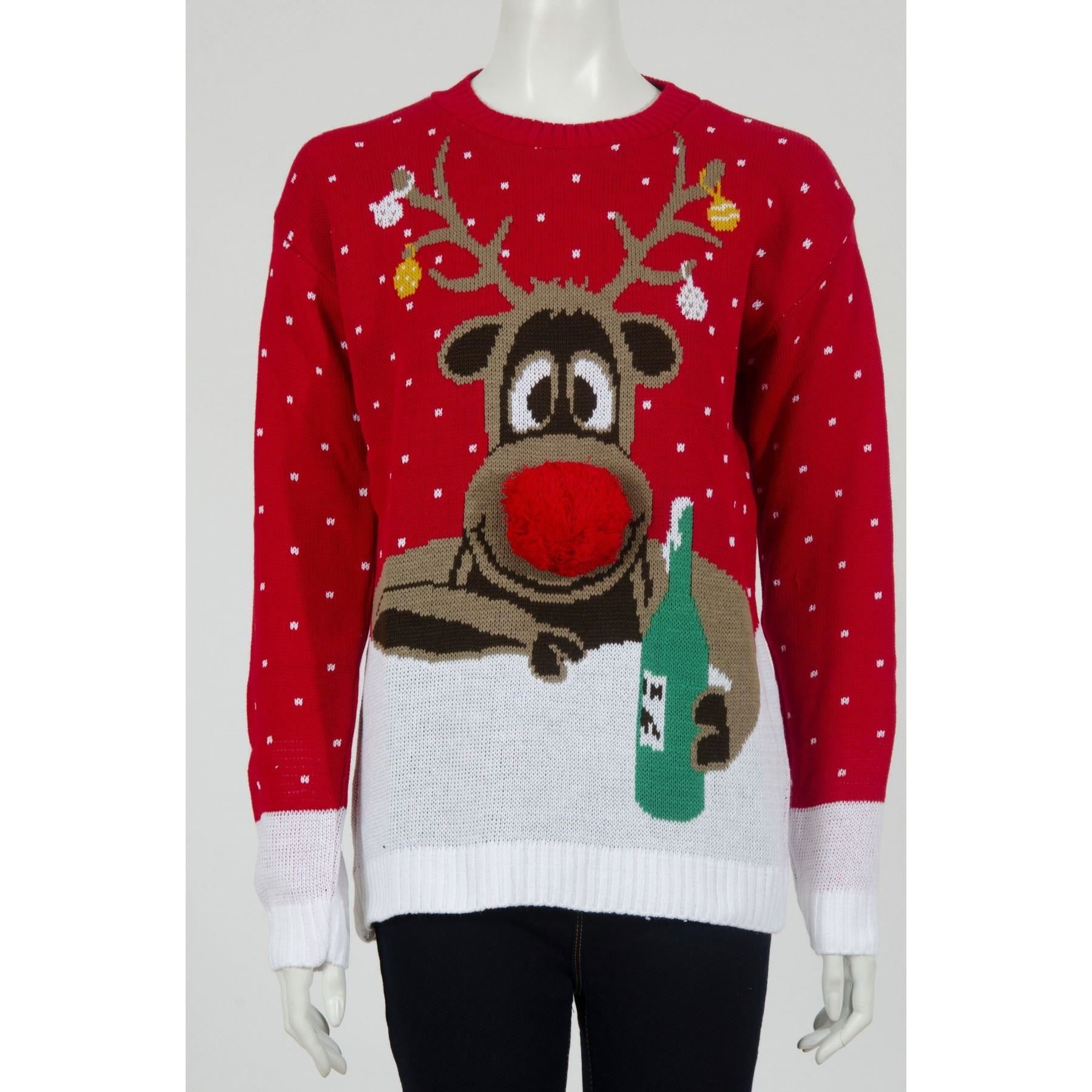 Olaf Christmas Jumper Knitting Pattern : Unisex Christmas Jumpers Olaf Minion Reindeer X-mas Knitted Tops Winter Jumpe...