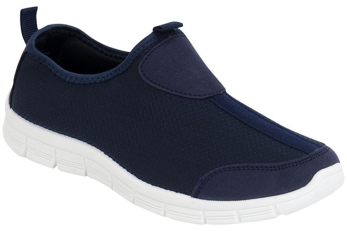 womens flat heel plimsolls lightweight trainers